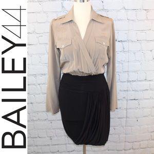 Bailey 44 taupe & black dress